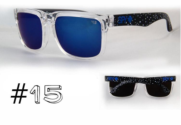 Солнцезащитные очки SPY+ Helm,прозрачная оправа, черные дужки космос.