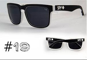 Солнцезащитные очки SPY+ Helm,черная оправа, черные дужки, белое лого., фото 2