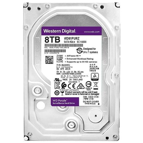"""Жесткий диск HDD 8Tb Western Digital WD81PURZ (3.5"""")"""