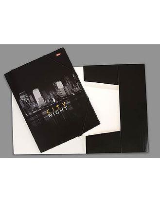 Папка А4 картонная на резинке Hatber -Megacity