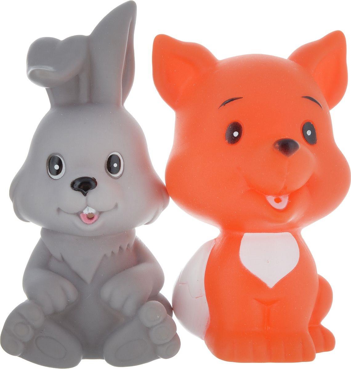 IV. Игрушки для ванной – Заяц и Лиса, в сетке