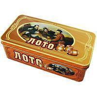 Лото Русское. Деревянные бочонки. Железная коробка.