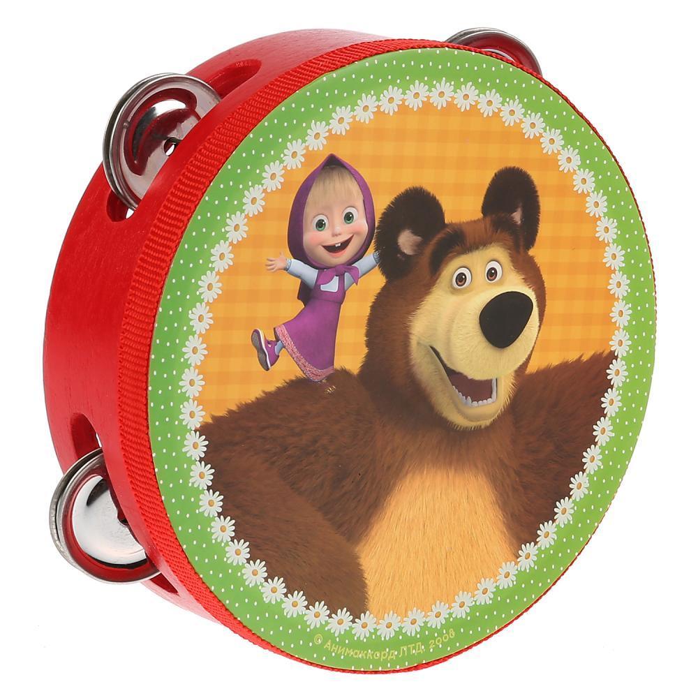 "IV. Бубен деревянный ""Маша и Медведь"""