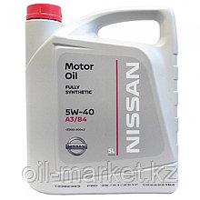 Моторное масло Ниссан / NISSAN MOTOR OIL SAE 5W-40 5L KE90090042