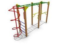Уличный Спортивно - Гимнастический детский  комплекс - 1.1 Размеры: 4100 x 1050 x 2550 мм