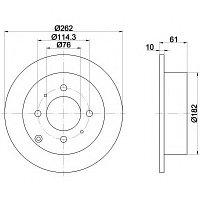 Тормозные диски  Kia Optima  (01-... ,задние, Trw)