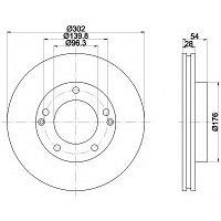 Тормозные диски Kia Sorento (02-08, передние, Veka, D302-tn28)