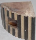 Деревянный домик для хомячка, 9.5Х9.5см, длина 13см