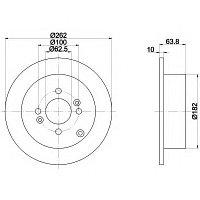 Тормозные диски Optimal Kia Rio(JB) (05-..., задние, Veka)