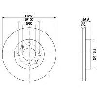 Тормозные диски Hyundai Accent (05-10, передние, D256, Optimal)
