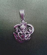 Амулет денежный, Ганеша, из серебра