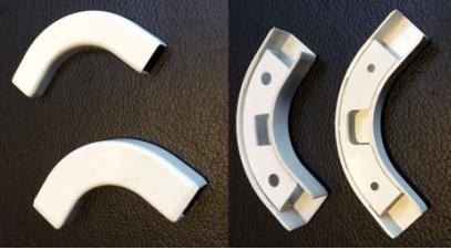 Поворотный угол кабельного канала для FTTH сетей, для DROP кабеля (15 mm x10 mm), фото 2