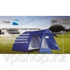 Палатка четырехместная туристическая LANYU KD 1704 с тамбуром и навесом, (400х230х185 см)