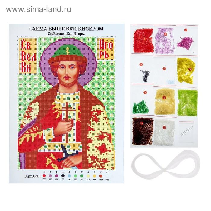 Вышивка бисером «Святой Великий Князь Игорь», размер основы: 21,5×29 см - фото 2