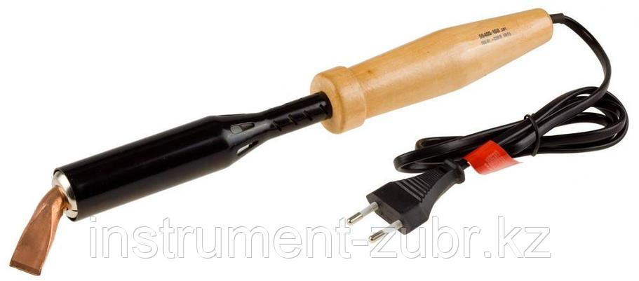 """Электропаяльник ЗУБР """"МАСТЕР"""" для лужения с деревянной рукояткой и долговечным жалом, форма клин, 150Вт, фото 2"""