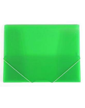 Папка Пластиковая Hatber А4ф на резинке LINE Зеленая полупрозрачная