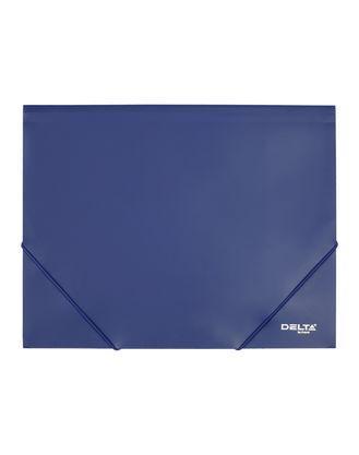 Папка пластиковая на резинках Axent Delta А4, 400мкм, синяя в индивидуальной упаковке