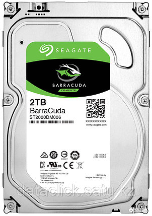 "Жесткий диск HDD 2000 Gb Seagate Barracuda (ST2000DM008), 3.5"", 256Mb, SATA III, фото 2"