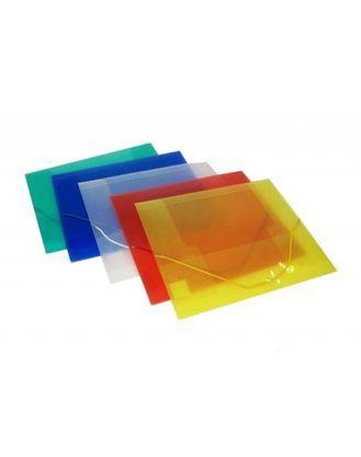 Папка пластиковая полупрозрачная на резинках Centrum А4, 450мкм, ассорти