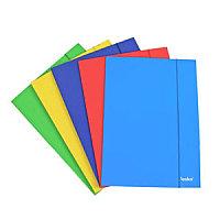 Папка с резинкой А4, 0,59мм, синяя, картон Foska