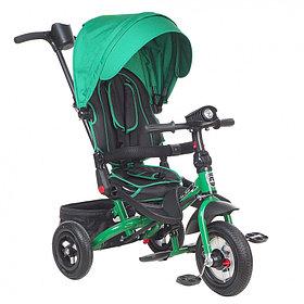 """Детский 3-х колесный велосипед Mini Trike CANOPY, надув.10""""/8"""", свет/муз панель Зеленый"""