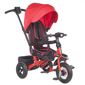 """Детский 3-х колесный велосипед Mini Trike CANOPY, надув.10""""/8"""", свет/муз панель Красный"""