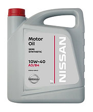Моторное масло Ниссан / NISSAN MOTOR OIL SL/CF 10W-40 SEMI-SYNTHETIC 5L KE90099942