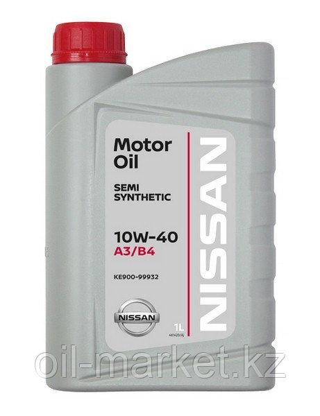 Моторное масло Ниссан / NISSAN MOTOR OIL SL/CF 10W-40 SEMI-SYNTHETIC 1L KE90099932