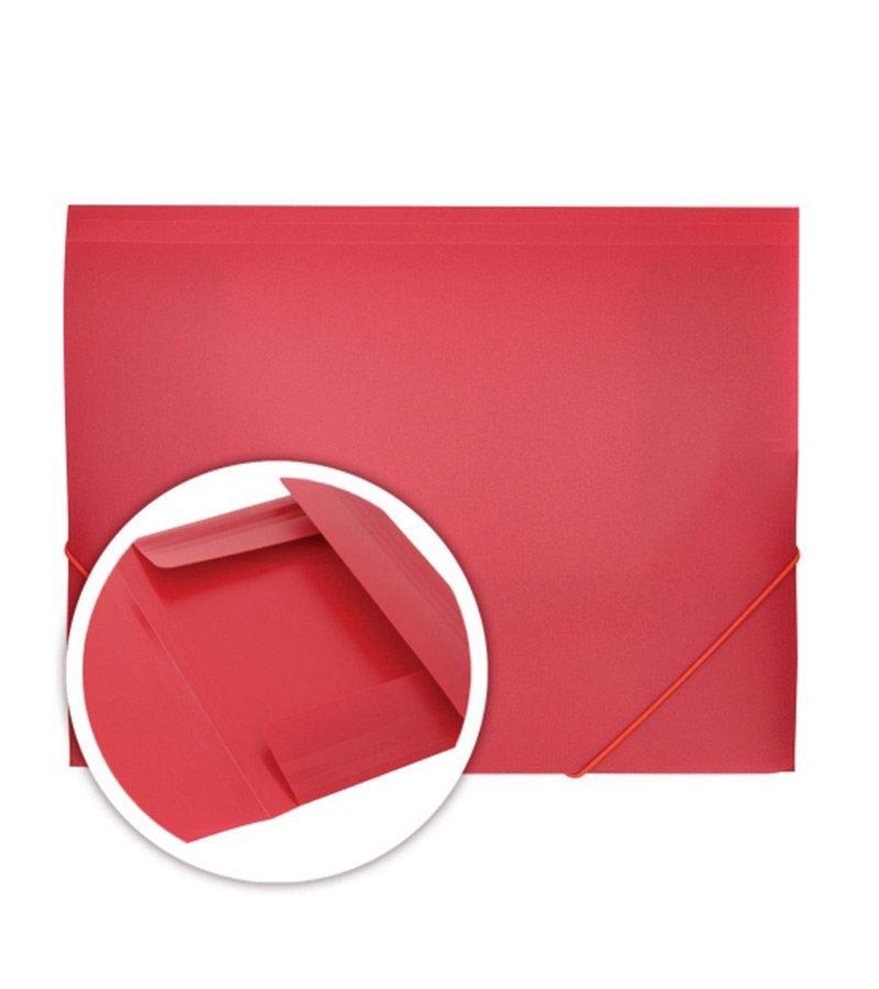Папка c резинкой DOLCE COSTO Эконом A4 непрозрачная красная
