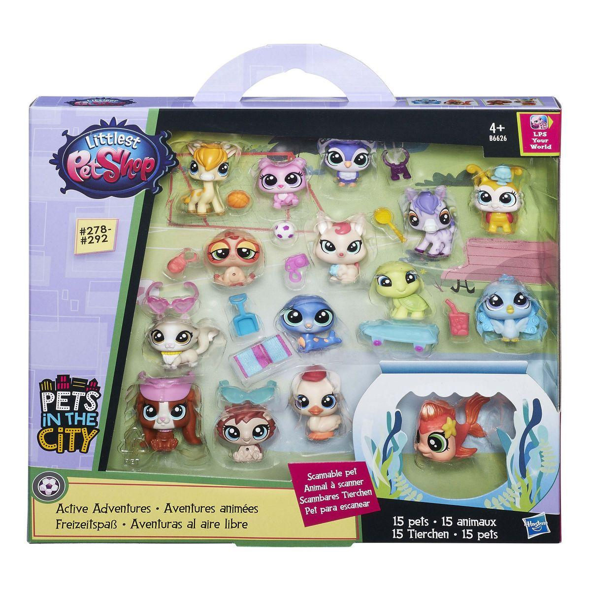 """Hasbro Littlest Pet Shop """"Городская мода"""" Набор зверюшек-малышей B6626"""