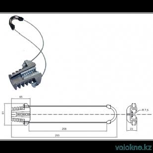 Анкерный зажим РА-08 для подвеса оптического кабеля типа ОК/Т