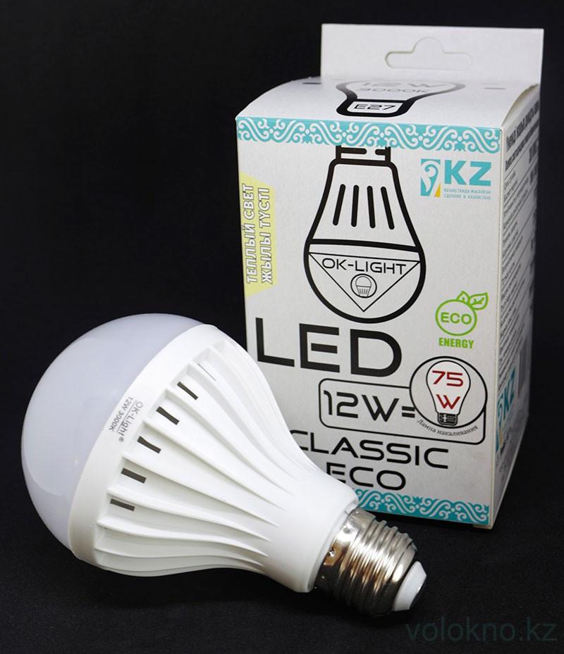 Лампа светодиодная серии CLASSIC 12W цоколь Е27 3000К Теплый белый свет