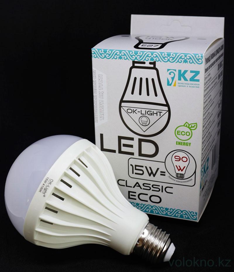 Лампа светодиодная серии CLASSIC 15W цоколь Е27 4100К Натуральный белый свет