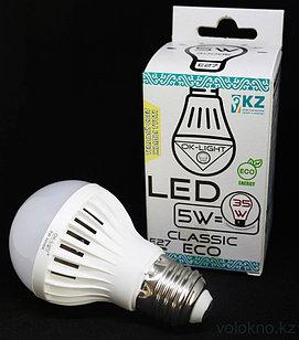 Лампа светодиодная серии CLASSIC 5W цоколь Е27 3000К Теплый белый свет