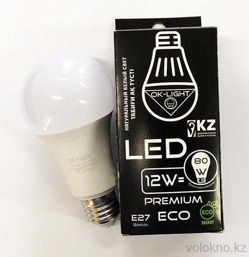 Лампа светодиодная серии PREMIUM 12W цоколь Е27 4100К Натуральный белый свет