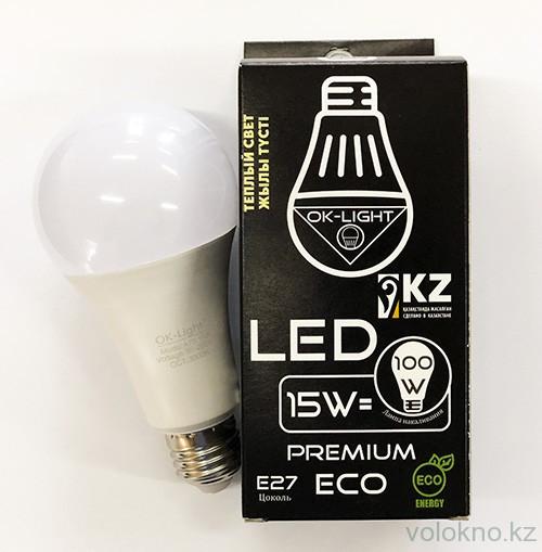 Лампа светодиодная серии PREMIUM 15W цоколь Е27 3000К Теплый белый свет