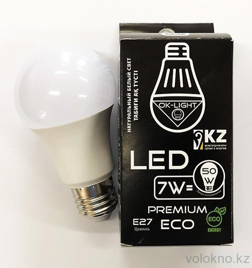 Лампа светодиодная серии PREMIUM 7W цоколь Е27 4100К Натуральный белый свет