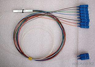 Оптический сплиттер PLC с делением 1*2 (коннекторы SC/APC)