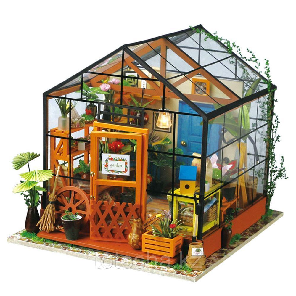 Румбокс Цветочный дом Кэти со светодиодной подсветкой Kit-Cathy's Flower House