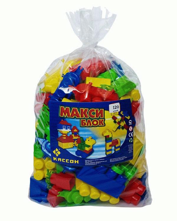 КАССОН Кубики Макси Блок 120 в пакете