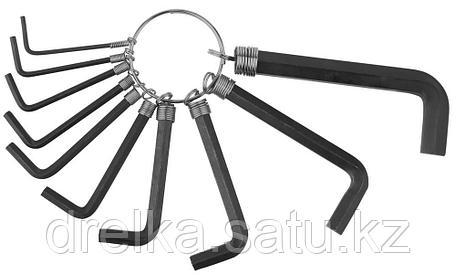 Набор DEXX: Ключи имбусовые, оксидированные, на кольце, HEX, 1,5-2-2,5-3-3,5-4-5-5,5-6-8, 10шт , фото 2