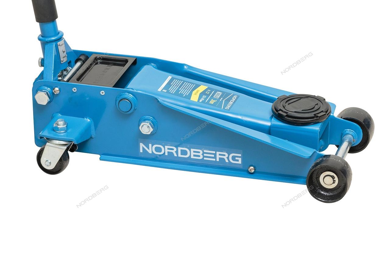 NORDBERG ДОМКРАТ N3203 подкатной 3 тонн 133-465мм с резиновой насадкой, быстрый подъем