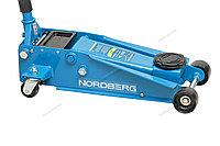 NORDBERG ДОМКРАТ N3203 подкатной 3 тонн 133-465мм с резиновой насадкой, быстрый подъем, фото 1