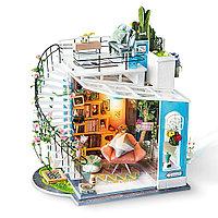 Румбокс Лофт Доры со светодиодной подсветкой Diy House Dora's Loft