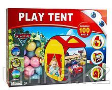 """Игровая палатка-домик """"Тачки"""" + 100 шариков в комплекте"""