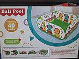 Детский сухой бассейн (манеж) + 40 шариков в комплекте, фото 3
