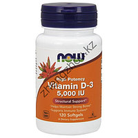 Витамин D-3 (5000 мг) Now Foods (120 капсул)