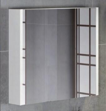 Зеркало-шкаф Женева 90 белый дуб