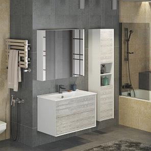 Зеркало-шкаф Женева 90 белый дуб, фото 2