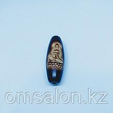 Бусина Дзи Богиня Гуань Инь на агате